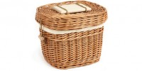 Oval Wicker Urn
