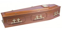 Panelled Mahogany Coffin