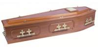 Panelled Mahogany Coffin
