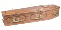 Panelled Oak Coffin